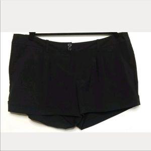 Pants - Torrid Cuffed Black Shorts